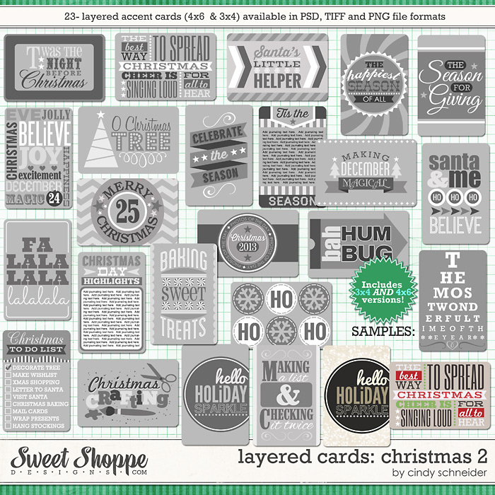 Cindy's Layered Cards: Christmas 2 by Cindy Schneider