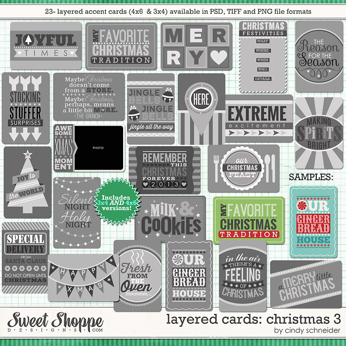 Cindy's Layered Cards: Christmas 3 by Cindy Schneider