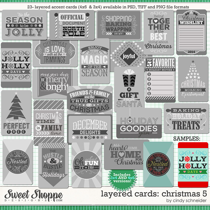 Cindy's Layered Cards: Christmas 5 by Cindy Schneider