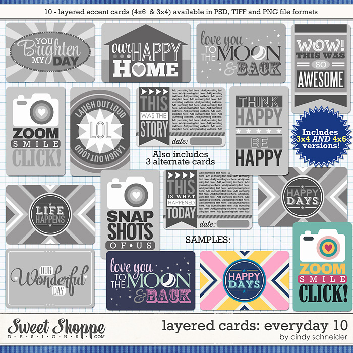 Cindy's Layered Cards: EVERYDAY 10 by Cindy Schneider