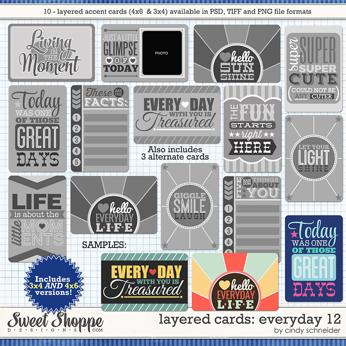Cindy's Layered Cards: EVERYDAY 12 by Cindy Schneider
