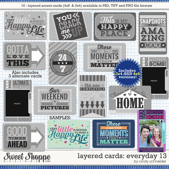 Cindy's Layered Cards: EVERYDAY 13 by Cindy Schneider