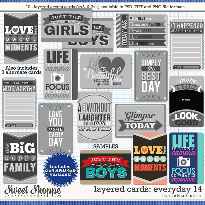 Cindy's Layered Cards: EVERYDAY 14 by Cindy Schneider