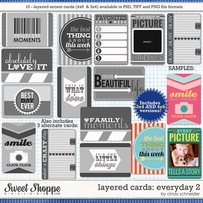 Cindy's Layered Cards: EVERYDAY 2 by Cindy Schneider