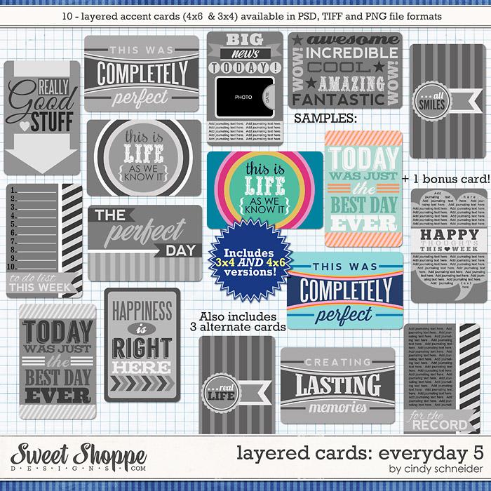 Cindy's Layered Cards: EVERYDAY 5 by Cindy Schneider