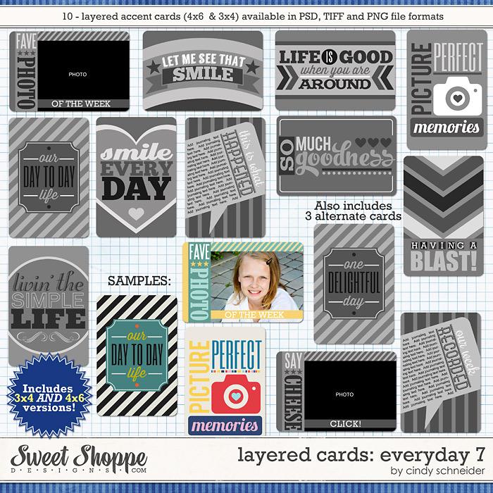 Cindy's Layered Cards: EVERYDAY 7 by Cindy Schneider