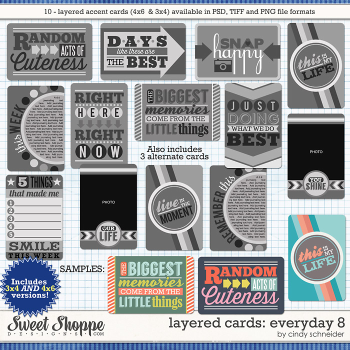 Cindy's Layered Cards: EVERYDAY 8 by Cindy Schneider