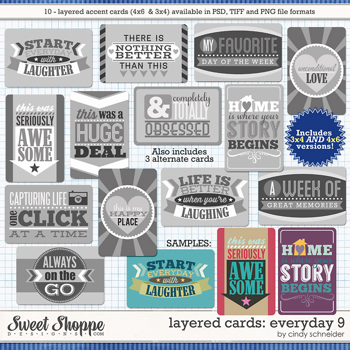 Cindy's Layered Cards: EVERYDAY 9 by Cindy Schneider
