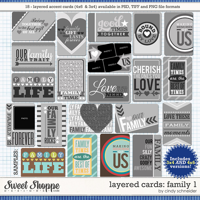 Cindy's Layered Cards: FAMILY 1 by Cindy Schneider