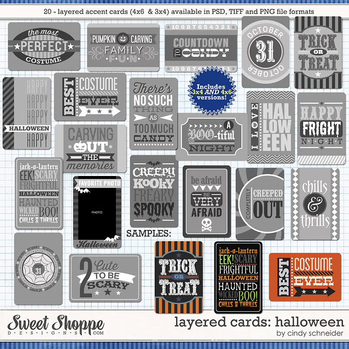 Cindy's Layered Cards: Halloween by Cindy Schneider