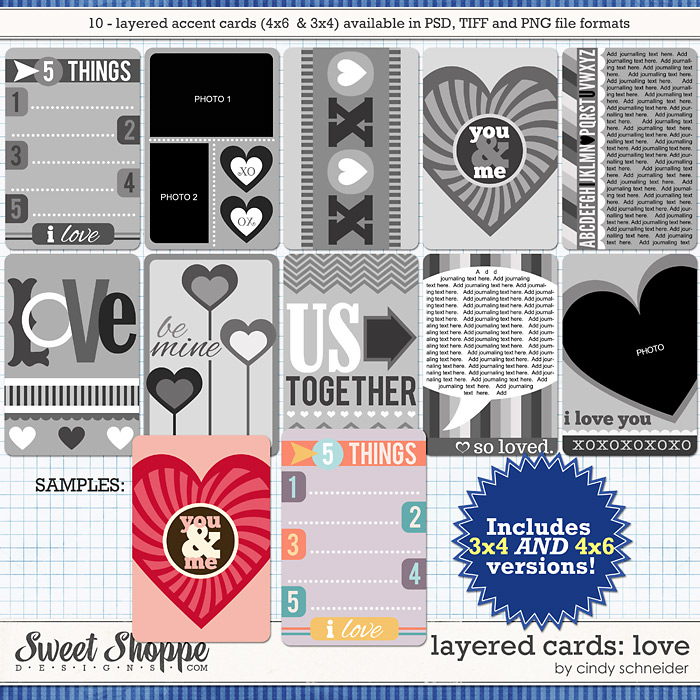 Cindy's Layered Cards: LOVE by Cindy Schneider