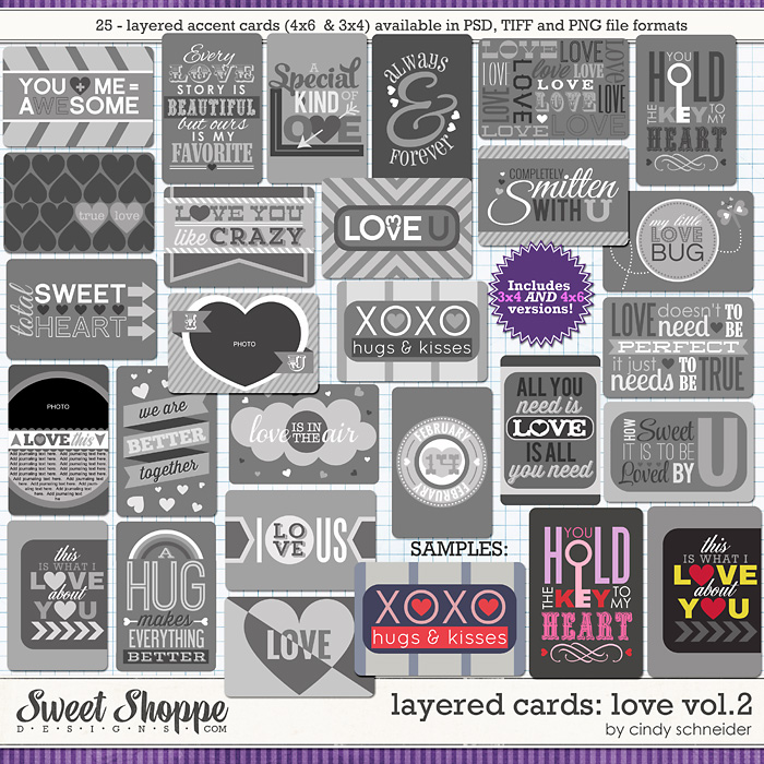 Cindy's Layered Cards: Love 2 by Cindy Schneider
