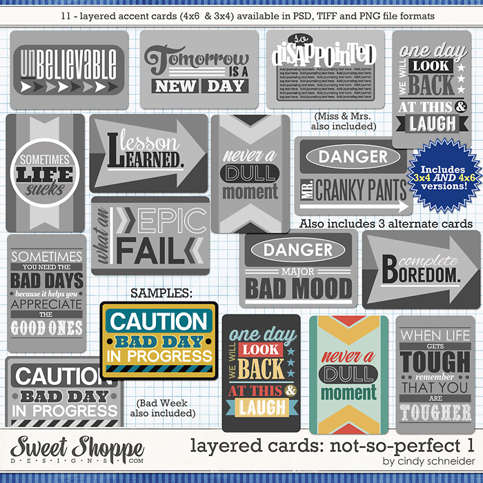Cindy's Layered Cards: Not So Perfect 1 by Cindy Schneider