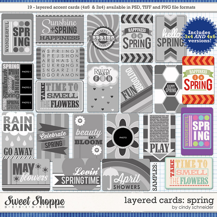 Cindy's Layered Cards: SPRING by Cindy Schneider