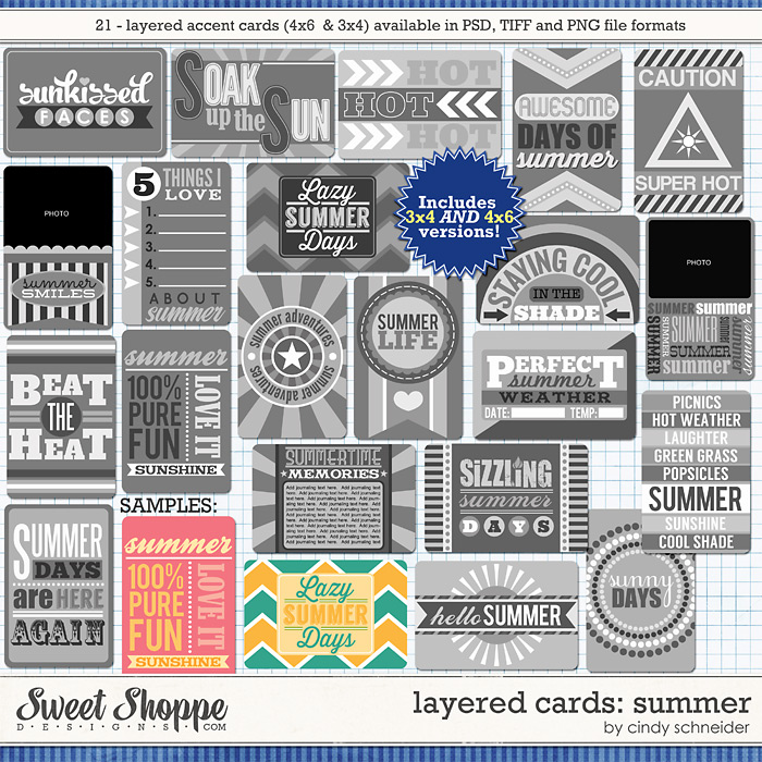 Cindy's Layered Cards: SUMMER by Cindy Schneider