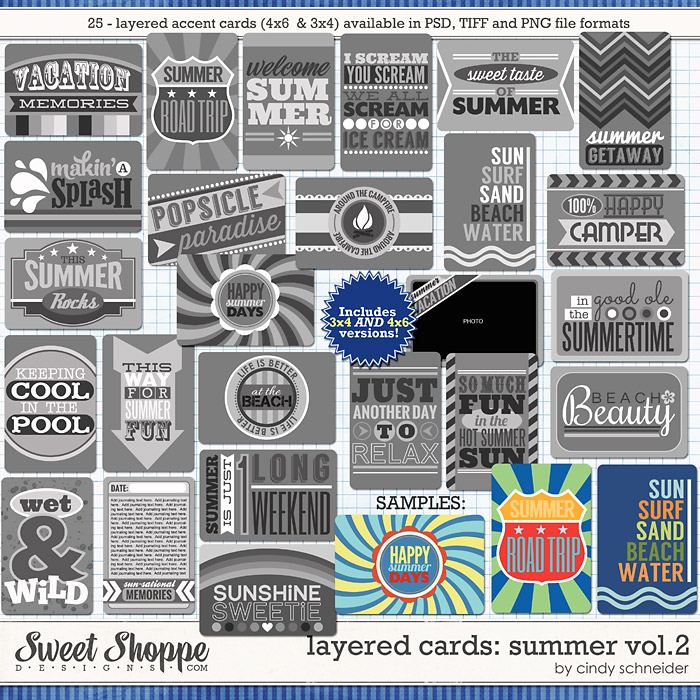 Cindy's Layered Cards: SUMMER Vol 2. by Cindy Schneider