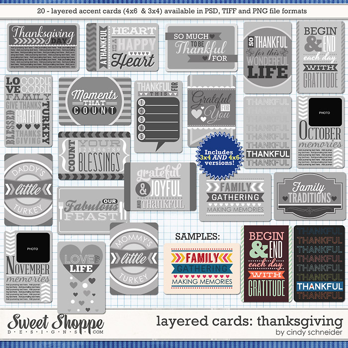 Cindy's Layered Cards: Thanksgiving by Cindy Schneider
