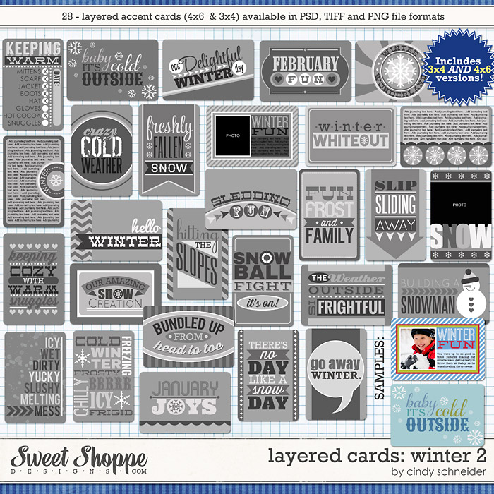 Cindy's Layered Cards: Winter 2 by Cindy Schneider