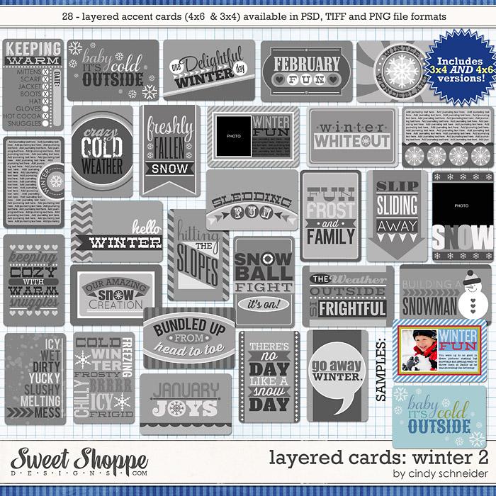 Cindy's Layered Cards: Winter 2 by Cindy Schneider
