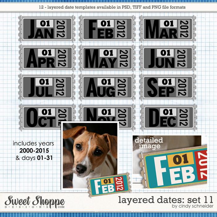 Cindy's Layered Dates: Set 11 by Cindy Schneider