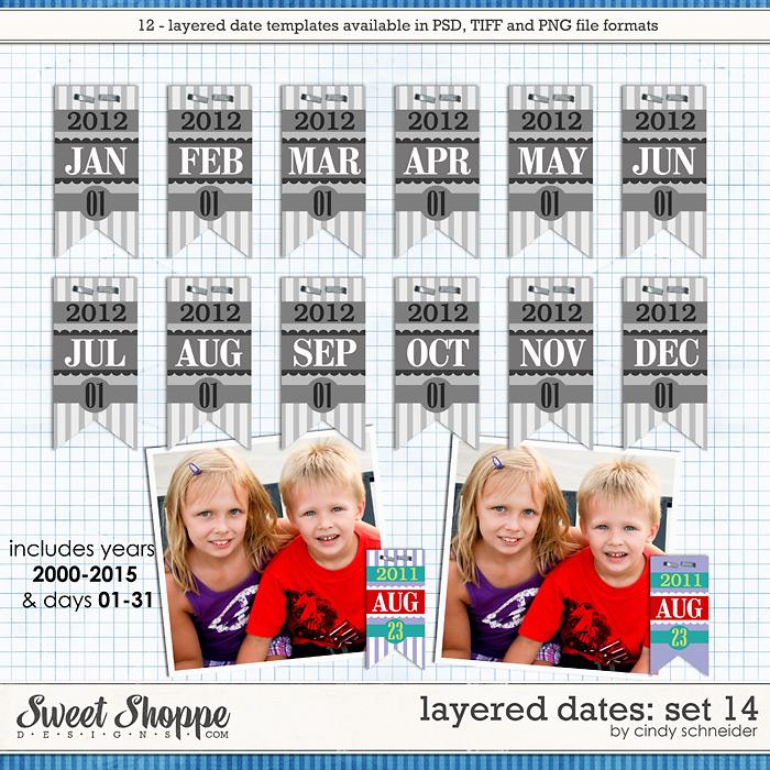 Cindy's Layered Dates: Set 14 by Cindy Schneider