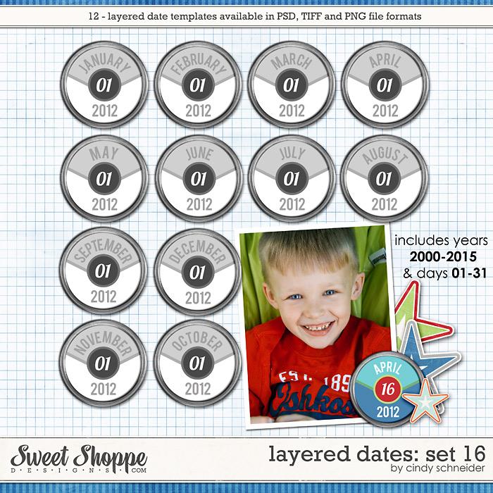 Cindy's Layered Dates: Set 16 by Cindy Schneider