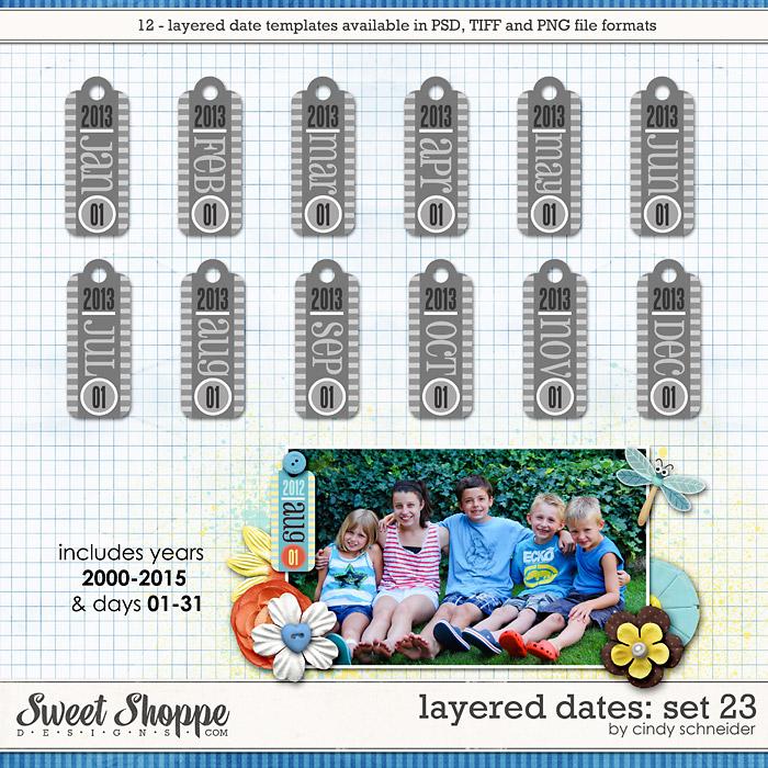 Cindy's Layered Dates: Set 23 by Cindy Schneider