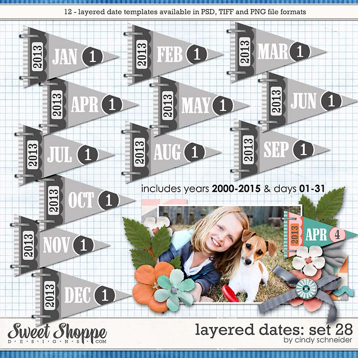 Cindy's Layered Dates: Set 28 by Cindy Schneider