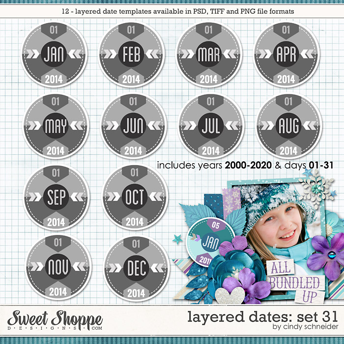 Cindy's Layered Dates: Set 31 by Cindy Schneider