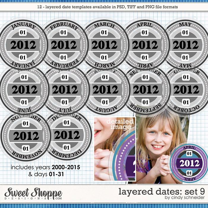 Cindy's Layered Dates: Set 9 by Cindy Schneider