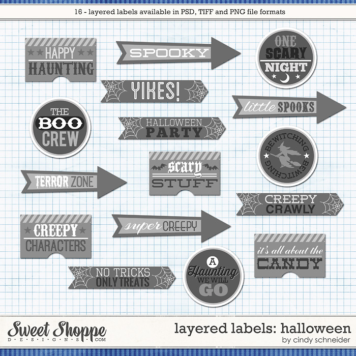 Cindy's Layered Labels - Halloween by Cindy Schneider