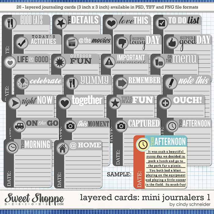Cindy's Layered Cards: Mini Journalers 1by Cindy Schneider