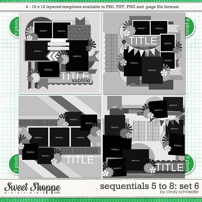 Cindy's Templates - Sequentials 5 to 8: Set 6 by Cindy Schneider