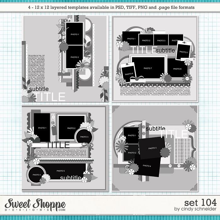 Cindy's Layered Templates - Set 104 by Cindy Schneider