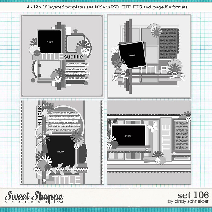 Cindy's Layered Templates - Set 106 by Cindy Schneider