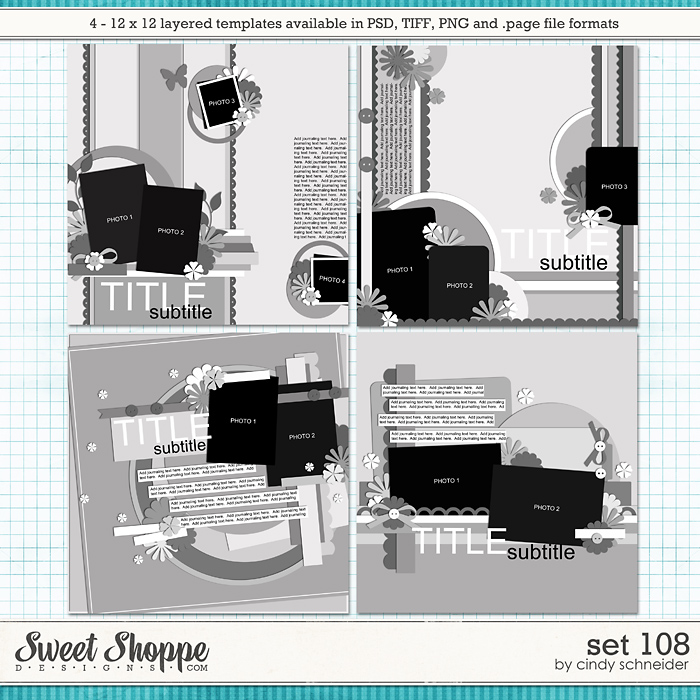 Cindy's Layered Templates - Set 108 by Cindy Schneider