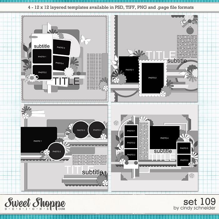 Cindy's Layered Templates - Set 109 by Cindy Schneider