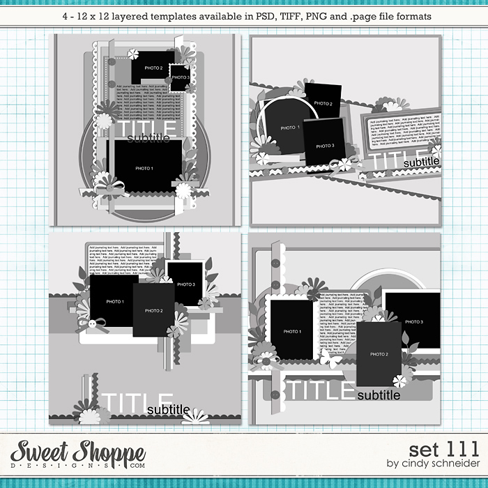 Cindy's Layered Templates - Set 111 by Cindy Schneider