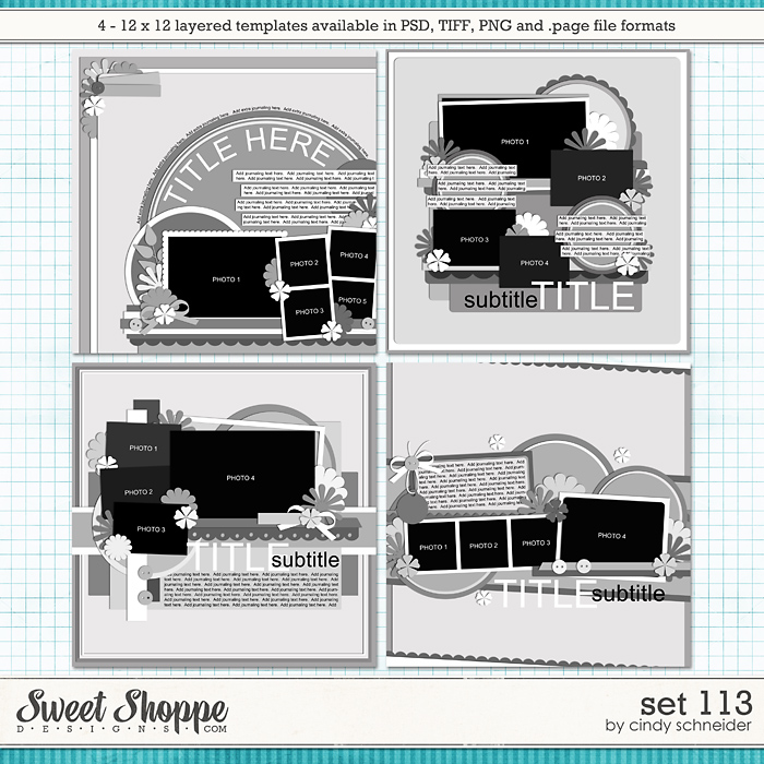 Cindy's Layered Templates - Set 113 by Cindy Schneider