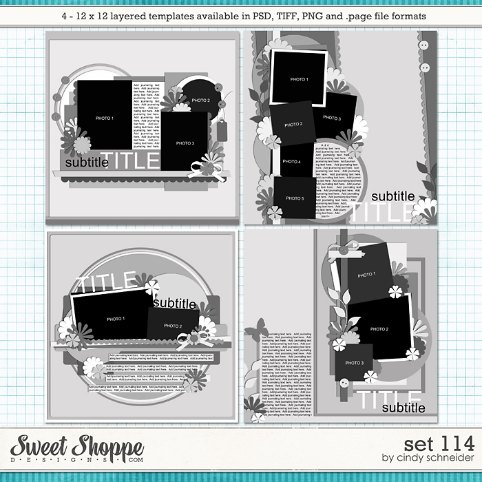 Cindy's Layered Templates - Set 114 by Cindy Schneider