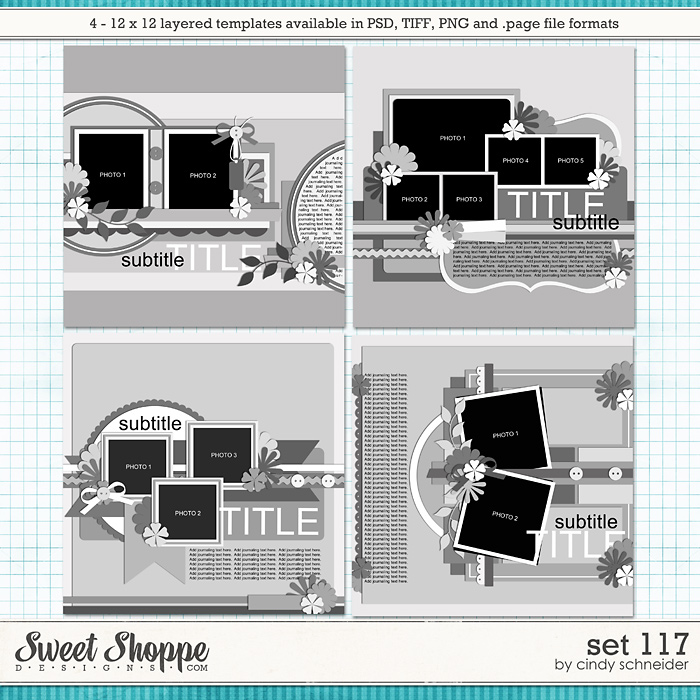 Cindy's Layered Templates - Set 117 by Cindy Schneider