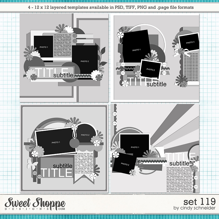 Cindy's Layered Templates - Set 119 by Cindy Schneider