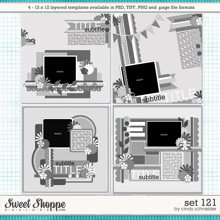 Cindy's Layered Templates - Set 121 by Cindy Schneider
