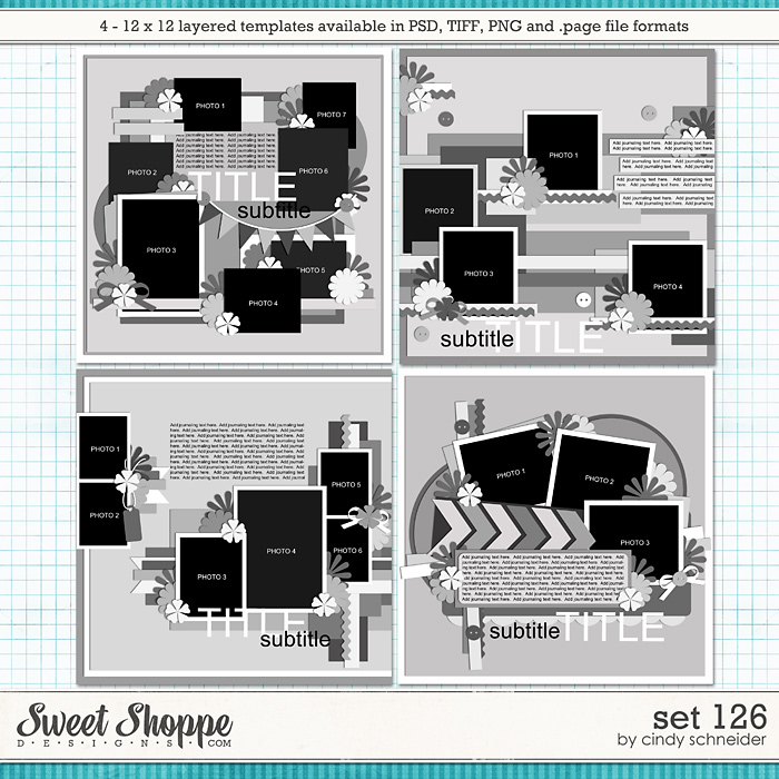 Cindy's Layered Templates - Set 126 by Cindy Schneider