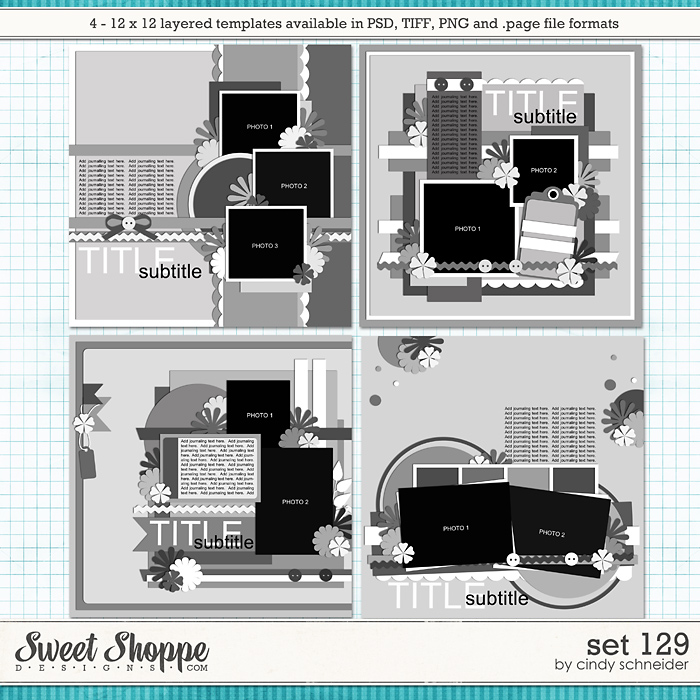 Cindy's Layered Templates - Set 129 by Cindy Schneider