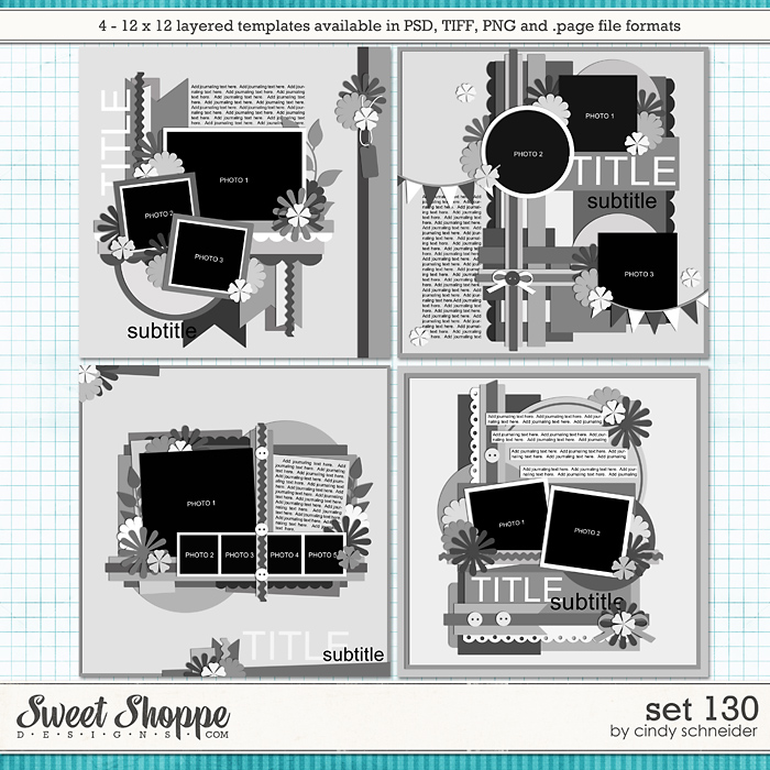 Cindy's Layered Templates - Set 130 by Cindy Schneider