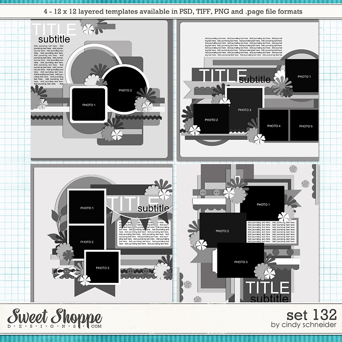 Cindy's Layered Templates - Set 132 by Cindy Schneider