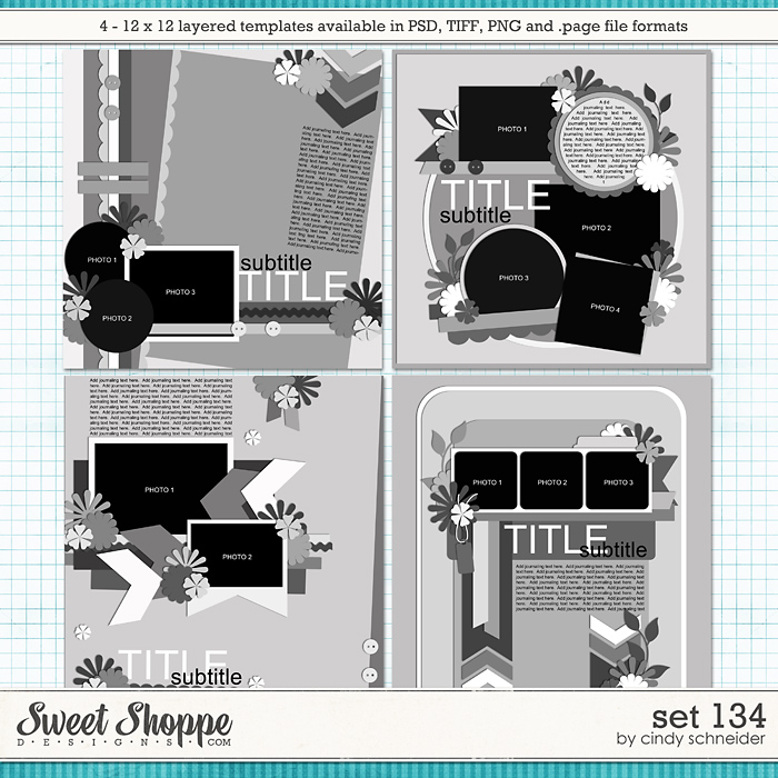 Cindy's Layered Templates - Set 134 by Cindy Schneider