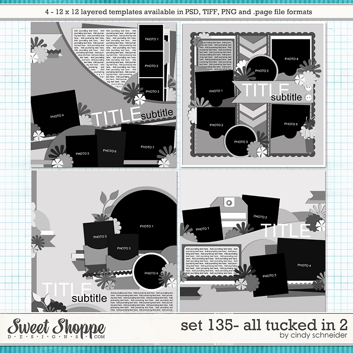 Cindy's Layered Templates - Set 135: All Tucked In 2 by Cindy Schneider