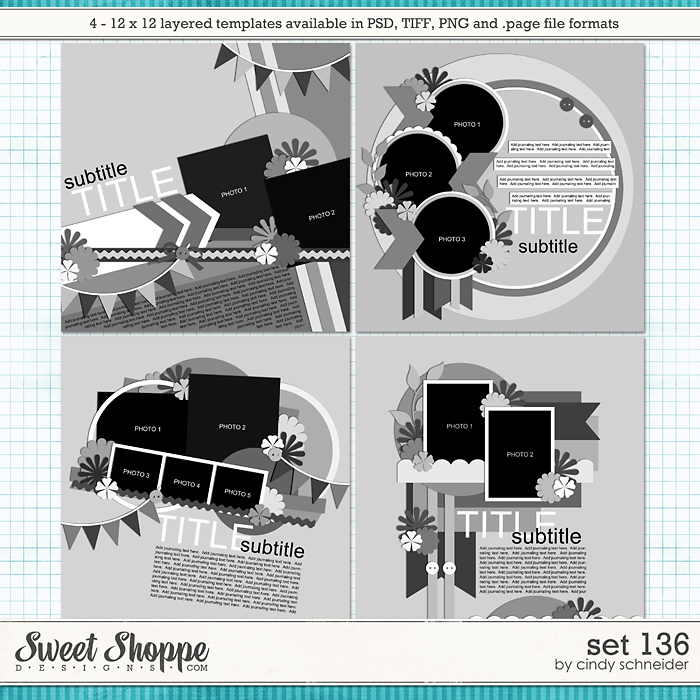 Cindy's Layered Templates - Set 136 by Cindy Schneider